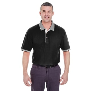 Link to UltraClub mens Classic Pique Polo with Contrasting Multi-Stripe Trim (8537) Similar Items in Girls' Clothing