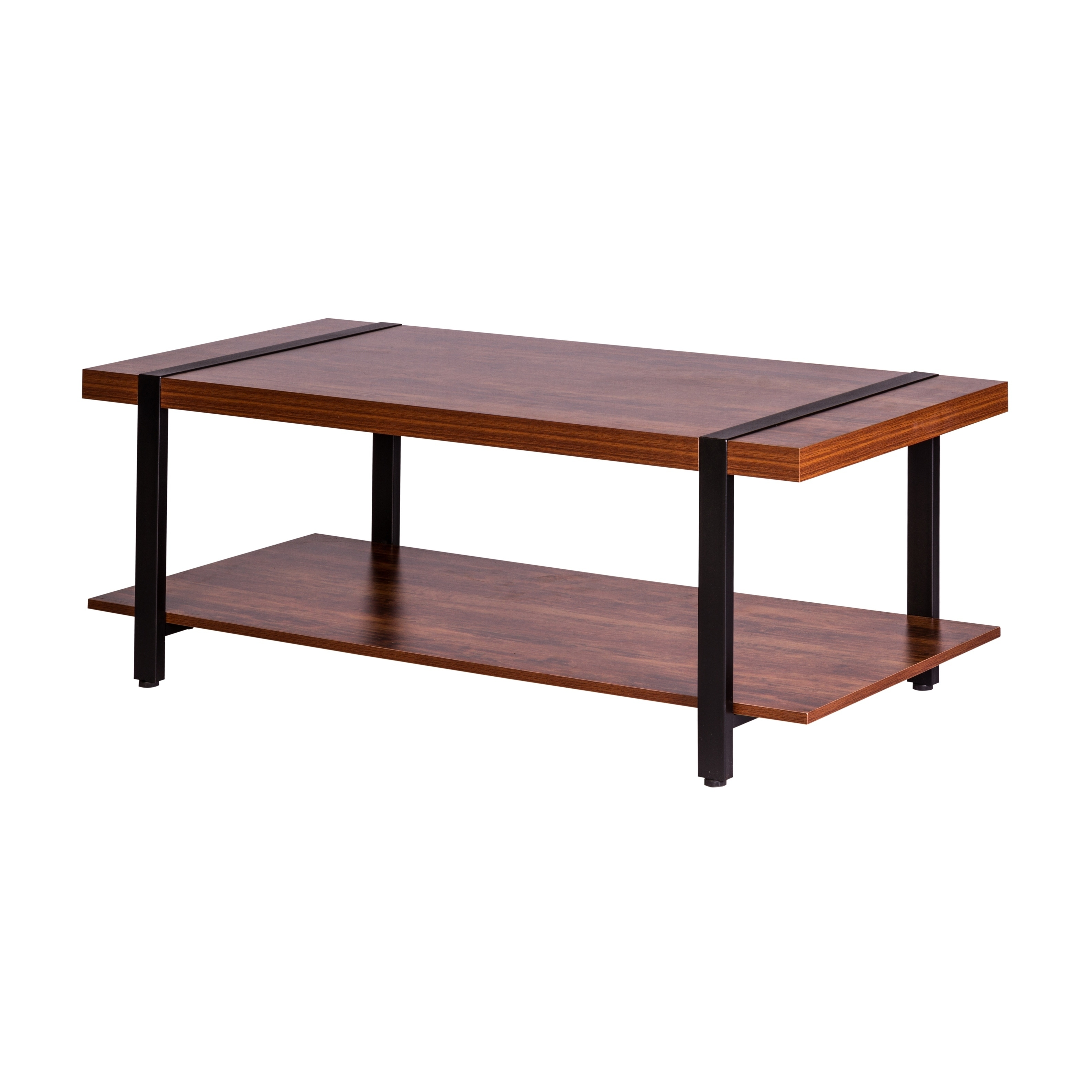 Bourbon Foundry Coffee Table Wood And Inset Black Steel