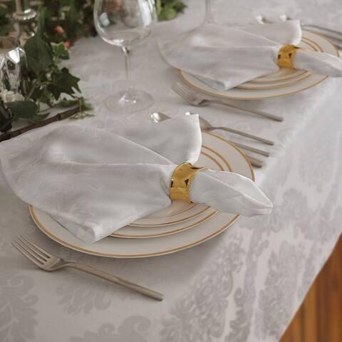 Elrene Barcelona Damask Fabric Set of 4 Napkins
