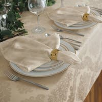 Elrene Barcelona Damask Fabric Set of 4 Napkins