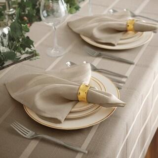 Elrene Elegance Plaid Damask Fabric Set of 4 Napkins