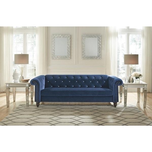 Malchin Contemporary Blue Sofa In A Box