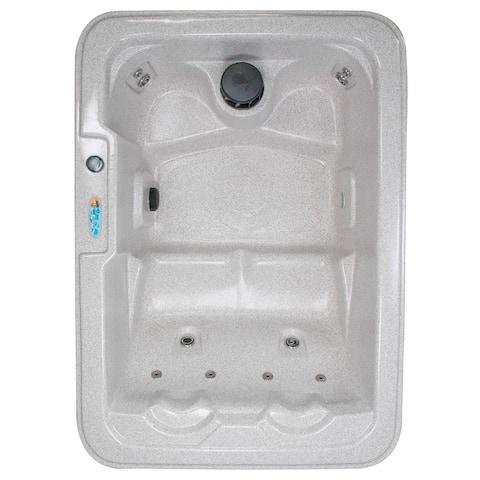 QCA Spas- Salt Lake 4-Person Plug and Play 10-Jet Spa with Hard Cover