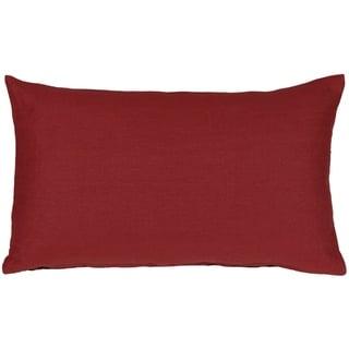 Pillow Decor - Tuscany Linen Red 12x20 Throw Pillow