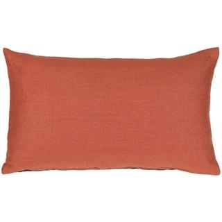 Pillow Décor - Tuscany Linen Sienna 12x20 Throw Pillow