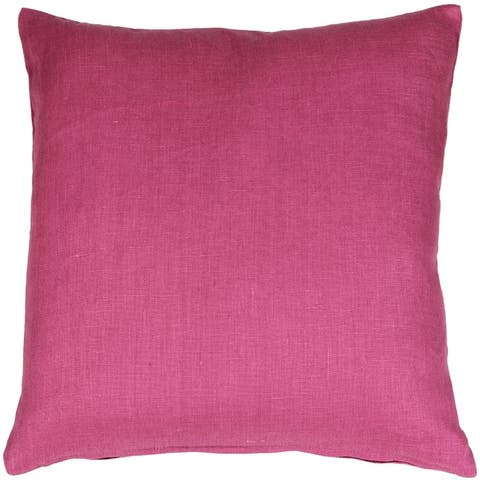 Pillow Decor - Tuscany Linen Orchid Pink 17x17 Throw Pillow