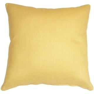 Pillow Decor - Tuscany Linen Banana Yellow 20x20 Throw Pillow