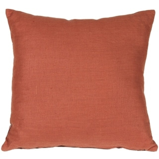Pillow Decor - Tuscany Linen Sienna 20x20 Throw Pillow