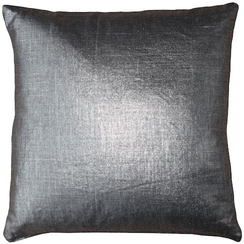 Pillow Decor - Tuscany Linen Platinum Metallic 16x16 Throw Pillow