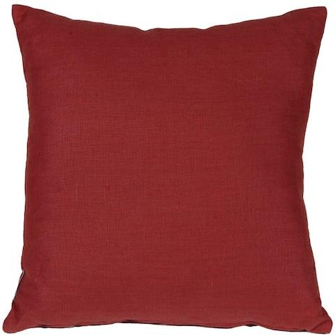 Pillow Decor - Tuscany Linen Red 20x20 Throw Pillow