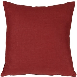 Pillow Decor - Tuscany Linen Red 20x20 Throw Pillow