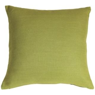 Pillow Decor - Tuscany Linen Apple Green 20x20 Throw Pillow