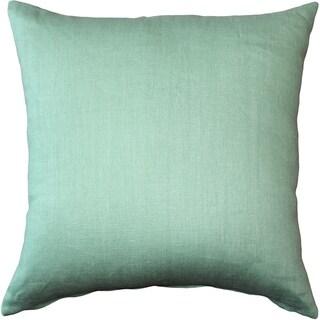 Pillow Decor - Tuscany Linen Aqua Green 17x17 Throw Pillow