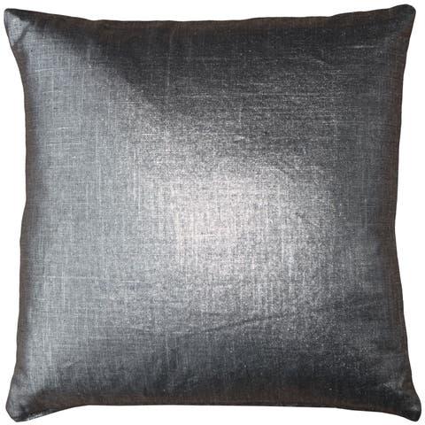 Pillow Décor - Tuscany Linen Platinum Metallic 20x20 Throw Pillow