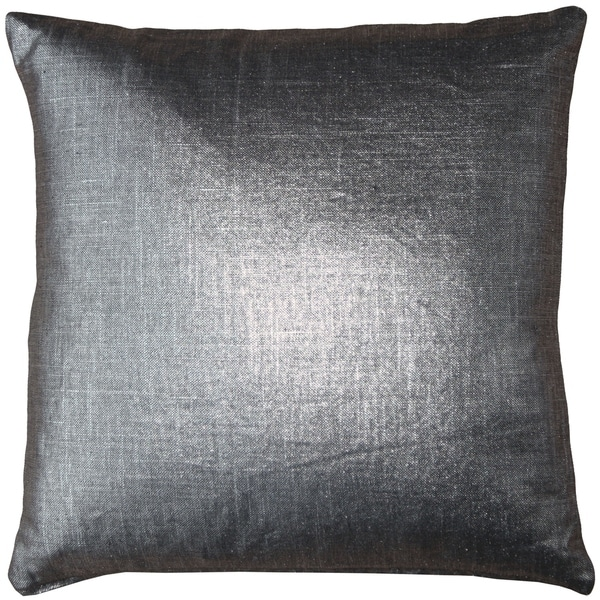 Pillow Decor - Tuscany Linen Platinum Metallic 20x20 Throw Pillow