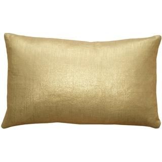 Pillow Decor - Tuscany Linen Gold Metallic 12x20 Throw Pillow