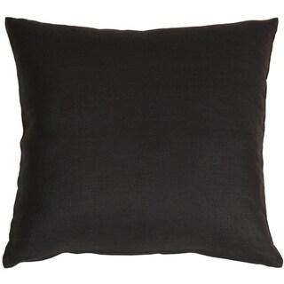 Pillow Décor - Tuscany Linen Black 17x17 Throw Pillow