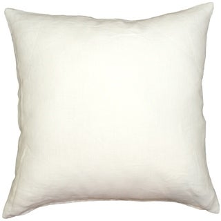 Pillow Decor - Tuscany Linen White 20x20 Throw Pillow