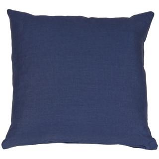 Pillow Decor - Tuscany Linen Indigo Blue 17x17 Throw Pillow