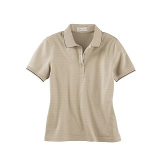 Ash City - Il Migliore womens Mercerized Textured Jacquard Polo (75033)