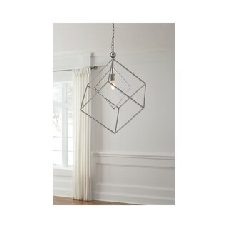 Signature Design by Ashley Neysa Silvertone Metal Pendant Light