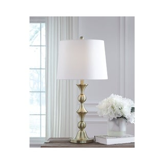 Genevieve Metal 29 Inch Table Lamps - Set of 2 - Brass Finish