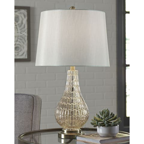 Latoya Glass 25 Inch Table Lamp - Champagne