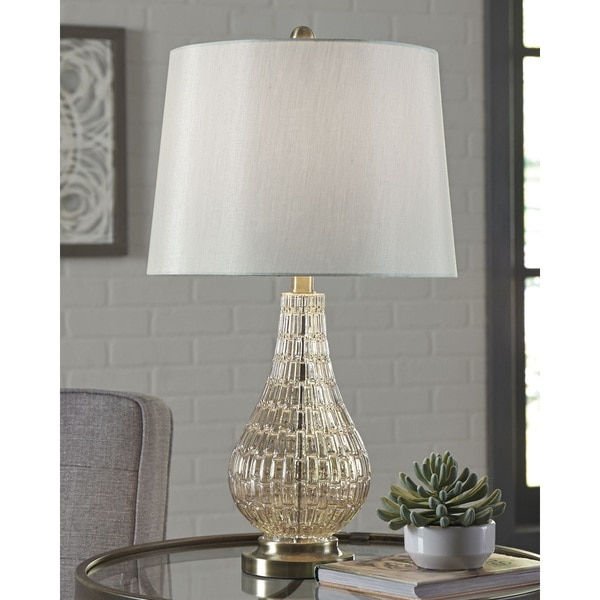 Latoya Glass 25 Inch Table Lamp - Champagne. Opens flyout.