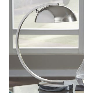 Haden Metal Desk Lamp - Chrome Finish