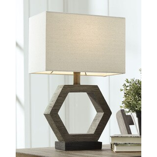 Marilu Poly 19 Inch Table Lamp - Gray and Brown