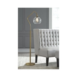 Marilee Floor Lamp - Antique Brass - Black/Brass