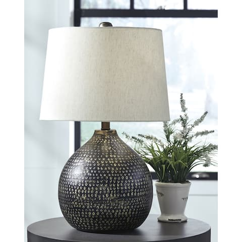 Maire Metal 24 Inch Table Lamp - Black and Gold Finish
