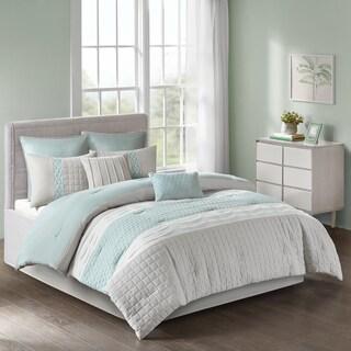 510 Design Irvine Seafoam/ Grey 8-piece in King Size Comforter Set (As Is Item)