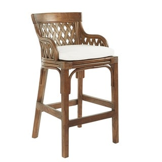 Link to Plantation Cushioned Bar Stool with Woven Back Panels Similar Items in Dining Room & Bar Furniture