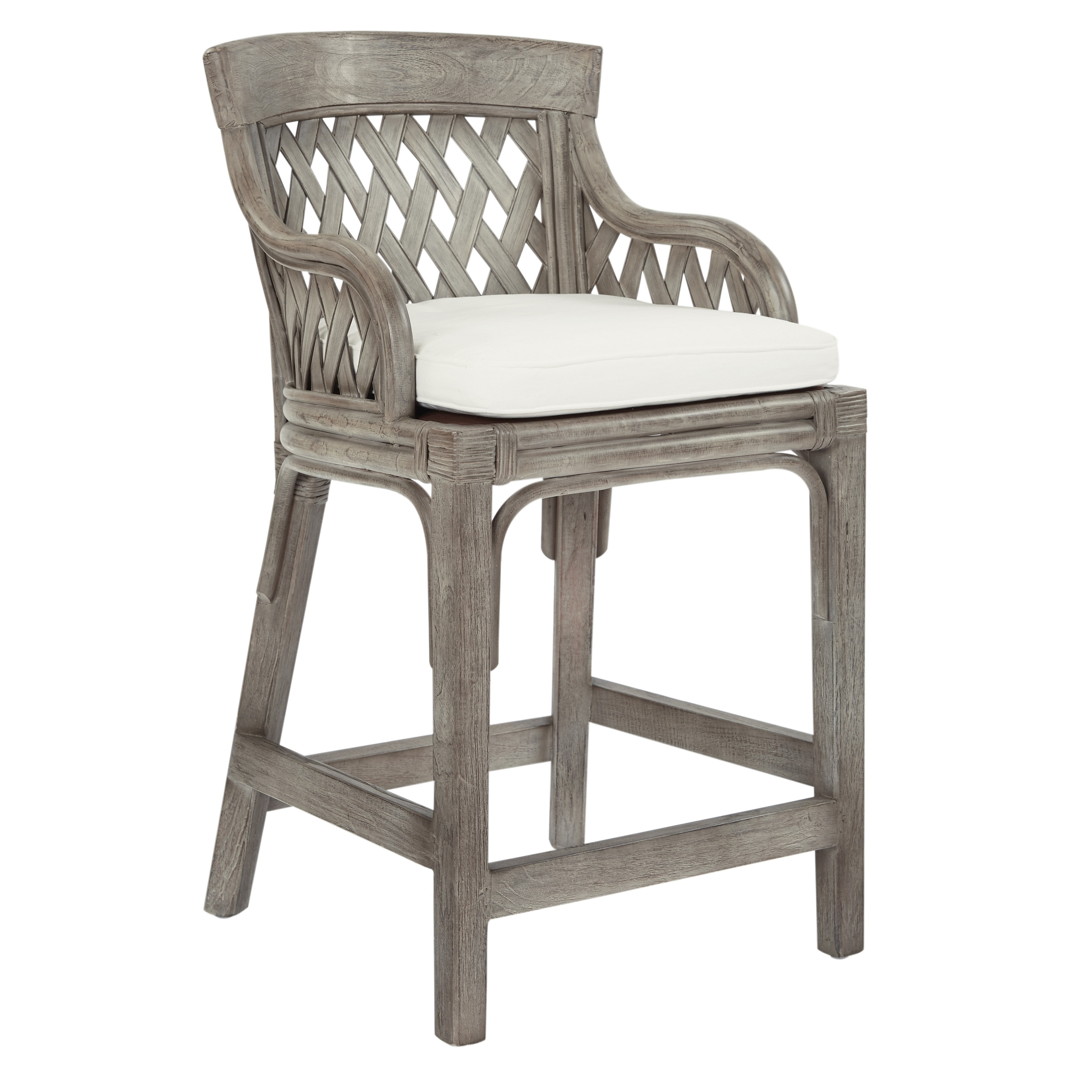 Enjoyable Osp Home Furnishings Plantation 24 Inch Counter Stool With Woven Back Panels Caraccident5 Cool Chair Designs And Ideas Caraccident5Info