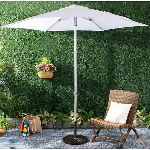 Safavieh Outdoor Hurst 9 Ft Push Up Umbrella - White