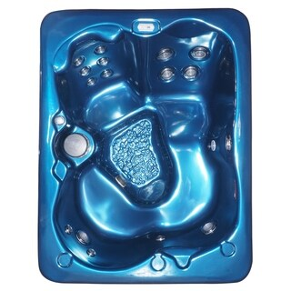 Model 33 DW -Laguna 3-4 Person 43-Stainless Steel Jets Plug and Play Hot Tub with Starburst LED Light Waterfall and Hard Cover