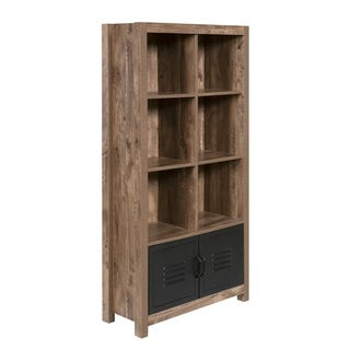 Norwood Range 8-shelf Oak-finished Bookshelf