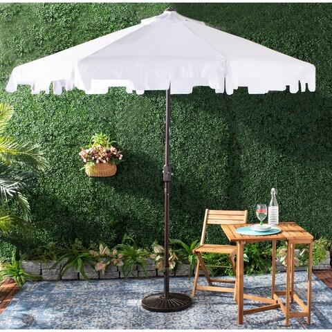 Safavieh Outdoor Zimmerman 9 Ft Market Umbrella - White