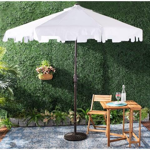 Safavieh Outdoor Zimmerman 9 Ft Market Umbrella White