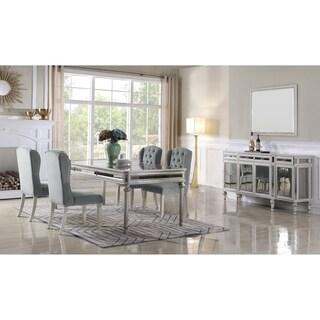 Best Master Furniture 5 Pieces Antique Cream Dining Set