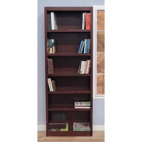 Concepts in Wood MI3084 Single Wide Bookcase, 6 Shelves