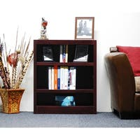 Concepts in Wood MI3036 Single Wide Bookcase, 3 Shelves