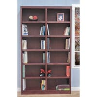 Concepts in Wood MI4884 Double Wide Bookcase, 12 Shelves