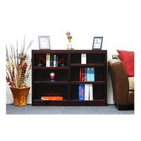 Concepts in Wood MI4836 Double Wide Bookcase, 6 Shelves
