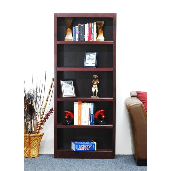Concepts in Wood MI3072 Single Wide Bookcase, 5 Shelves. Opens flyout.