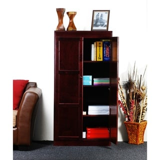 Concepts in Wood KT613 Multi-use Storage Cabinet, 4 Shelves