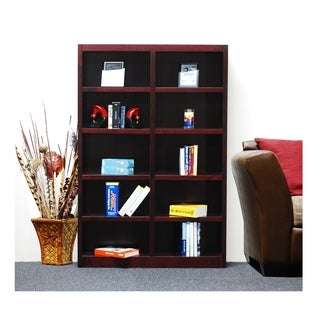 Concepts in Wood MI4872 Double Wide Bookcase, 10 Shelves