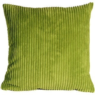 Pillow Decor - Wide Wale Corduroy 18x18 Green Throw Pillow