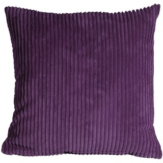 Pillow Decor - Wide Wale Corduroy 22x22 Purple Throw Pillow